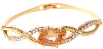 Neoglory Amber & Silver Crystal Gold Bangle/Bracelet New Gift Party Tv22