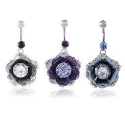 Exotic Bursting Flower Belly Bar