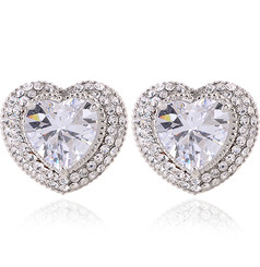 Neoglory 14K White Gold Heart Zircon Encrusted Pendant/Earrings/Bracelet/Ring/Set Xmas/ Gift S4