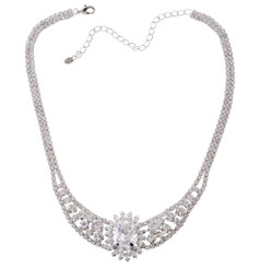Neoglory Dazzling Crystal Necklace Set Perfect Wedding Jewellery S34