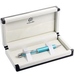 Chunky Crystal Filled Ballpoint Pen With Gift Box