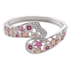 Neoglory Daisy Flower Detail Bouquet Bangle Ideal Present Finish S45