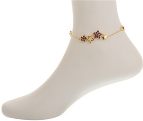 Neoglory Dazzling Crystal Star Anklet Silver/Gold Plated Gift/Party Ank05