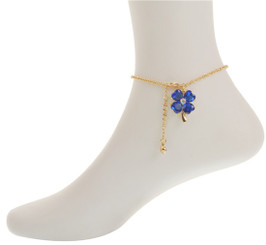 Neoglory Gorgeous Lucky Four Leaf Clover Anklet Gold/Silver Plated Ank25