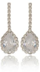 Dangling Teardrop Crystal Earrings