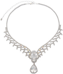 Neoglory Wonderful Life Droplet Crystal Wedding Necklace