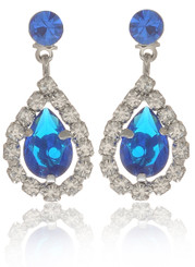Neoglory Wonderful Life Droplet Crystal Wedding Earrings