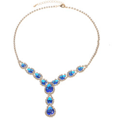 Neoglory Cinderella Droplet Crystal Party Wear Necklace