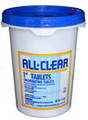 "All Clear 1"" Chlorine Tablets 25 lb."