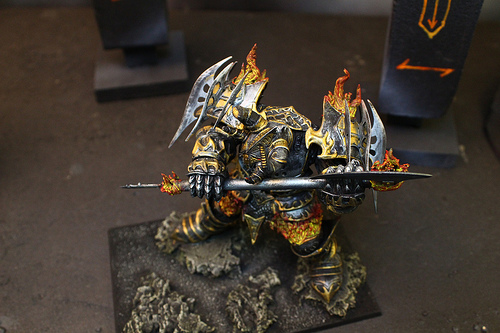 Chaos Dwarves from the Warhammer Fantasy War Game