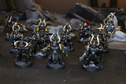 Chaos Space Marines for the Warhammer 40k War Game