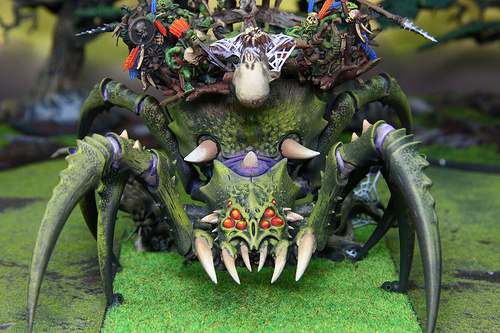 Goblin Spider Model from the Warhammer Fantasy War Game