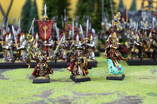 High Elves Miniatures to play with in the Warhammer Fantasy War Game