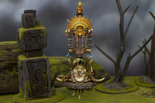 Lizardmen Miniature for the Warhammer Fantasy War Game