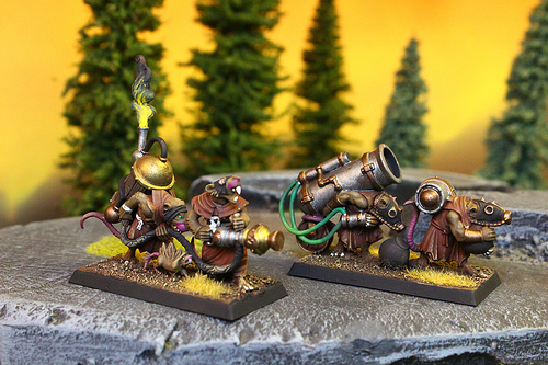 Skaven miniatures from the Warhammer Fantasy War Game