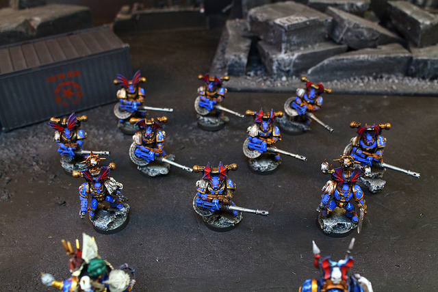 Space Marines miniatures for the Warhammer 40k War Game