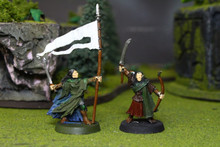 LOTR Wood Elf Captain and Standard Bearer Lot 6498 Blue Table Painting Store
