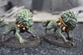 Foo Lions mated pair- painted Lot FRP029