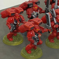 Blood Angels Assault Squad x6 painted Lot !5902