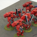 Blood Angels Assault Squad x6 painted Lot 15903
