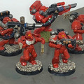 Blood Angels Devastator Squad x5 painted Lot 15912
