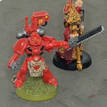 Blood Angels Techmarine and Ecclesiarch x2 painted Lot 15913