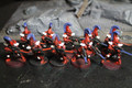 Eldar Dire Avengers painted x10 (red and white) Lot 16042
