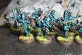 Eldar Howling Banshees painted x10 (in turquoise) Lot 16045