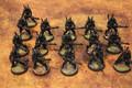 Eldar Guardians x16 primed black Lot 16088