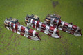 Dystopian Wars Japanese Cruisers x3  Lot 3184
