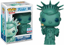 2017 NYCC Statue of Lady Liberty Freddy Funko Pop SE 6000 Pcs + Pop Protector