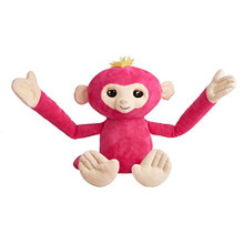 Authentic Fingerling Fingerlings Hugs, Pink - BELLA Interactive Plush Monkey Toy