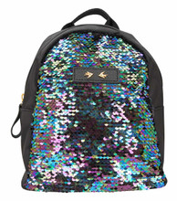 Depesche 10357 Backpack with Sequins Trend Love Black