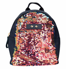 Depesche 10158 Rucksack with Sequins Trend Love Blue