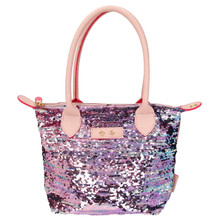 Depesche 10103 Handbag Trend Love Mauve with Sequins Approx. 31 x 23 cm