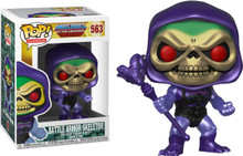 Masters of the Universe - Battle Armor Skeletor Metallic Pop! + Pop Protector
