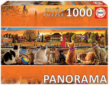 Cats On The Quay Panorama ~ 1000 Piece Educa Jigsaw Puzzle
