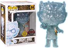 Funko Game Of Thrones Crystal Night King With Dagger Glow + Pop Protector