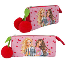 Depesche TOP MODEL Zipped PENCIL Tube CASE Cherry Bomb PINK Red