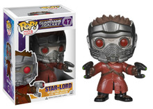 Pop! Funko Marvel Guardians Of The Galaxy- Star-Lord #47 + Pop Protector