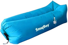 SnugBoy - Inflatable Air Bed Lounger Couch Chair Sofa Bag - Sky Blue