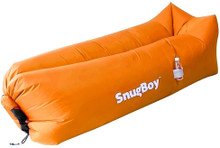 SnugBoy - Inflatable Air Bed Lounger Couch Chair Sofa Bag - Orange