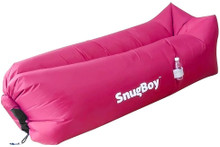 SnugBoy - Inflatable Air Bed Lounger Couch Chair Sofa Bag - Rose Red