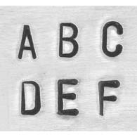 IMPRESSART - Basic Economy Uppercase Metal Stamp Set  3mm