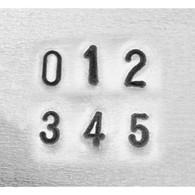 IMPRESSART - Basic Economy Number Metal Stamp Set  2.5mm