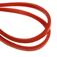 Genuine Leather Jewellery Cord Square 3mm - Red