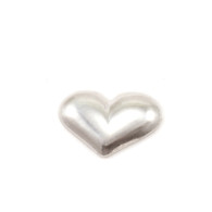 Sterling Silver Solderable Accent  - Mini Puffy Heart 24g