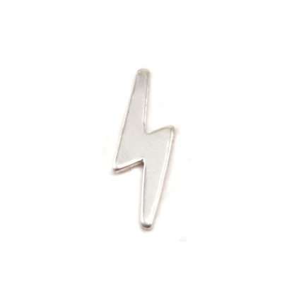 Lightning Strike Tiny Sterling Silver Solderable Accent from Beaducation 24g