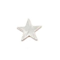Sterling Silver Solderable Accent  - Silver Art Nouveau Star 24g