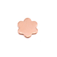 Copper Solderable Accent  - 6 Petal Flower 24g